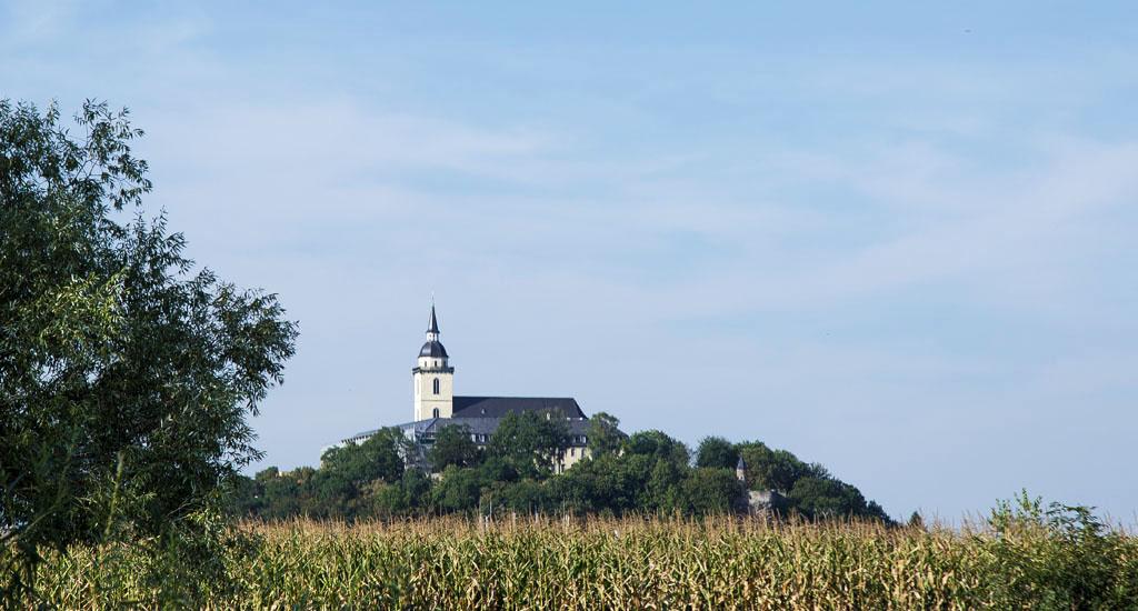 Blick auf den Michaelsberg in Siegburg